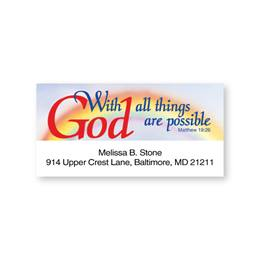 Scripture Sheeted Address Labels