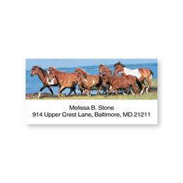 Wild Horses Sheeted Address Labels