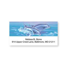 Dolphins Sheeted Address Labels
