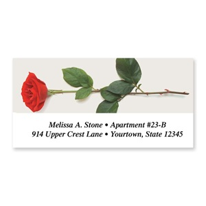 Single Rose Sheeted Address Labels