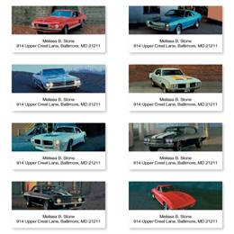 Muscle Cars Sheeted Address Label Assortment