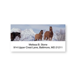Winter Horses Sheeted Address Labels