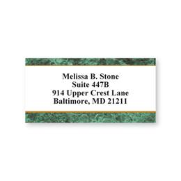 Green Marble Sheeted Address Labels