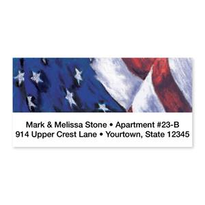 Old Glory Sheeted Address Labels