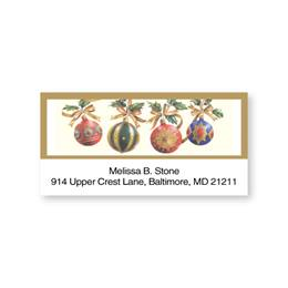 Ornaments Sheeted Address Labels