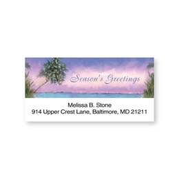 Tropical Greetings Sheeted Address Labels