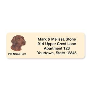 Chocolate Lab Pet Breed Address Labels