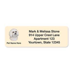 Bichon Frise Pet Breed Address Labels