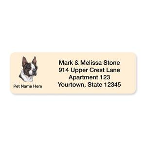 Boston Terrier Pet Breed Address Labels