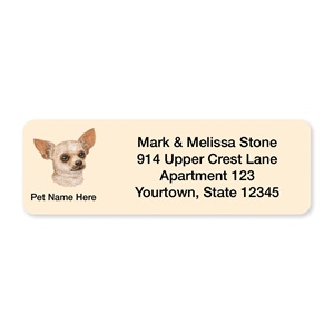 Chihuahua Pet Breed Address Labels
