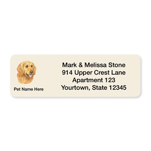 Golden Retriever Pet Breed Address Labels