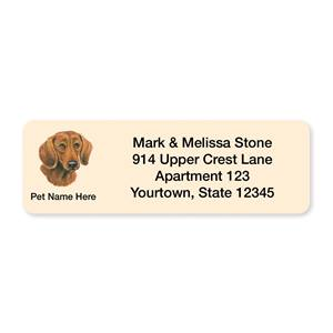 Dachshund Pet Breed Address Labels