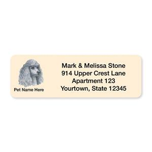 Poodle White Pet Breed Address Labels