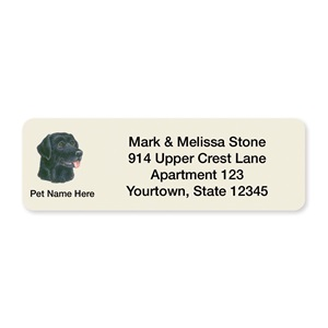 Black Lab Pet Breed Address Labels
