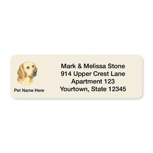 Yellow Lab Pet Breed Address Labels