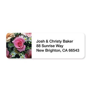 Rose In Bloom Sheeted Address Labels