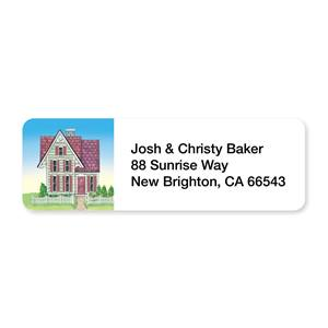Victorian House Sheeted Address Labels