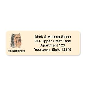 Yorkie Pet Breed Address Labels