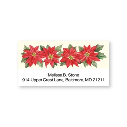 Poinsettia Sheeted Address Labels