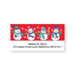 Snowmen Sheeted Address Labels