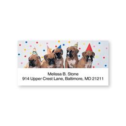 Party Pups Sheeted Address Labels