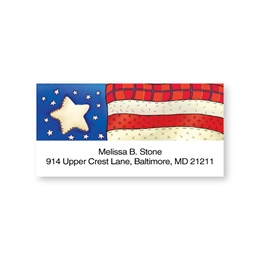 Americana Sheeted Personalized Name And Address Labels