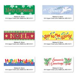 Holiday Greetings Sheeted Address Label Assortment