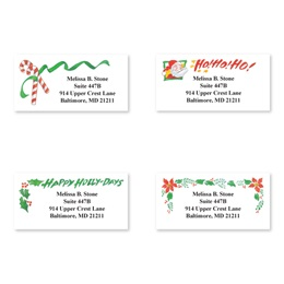 Traditional Holiday Sheeted Address Label Assortment