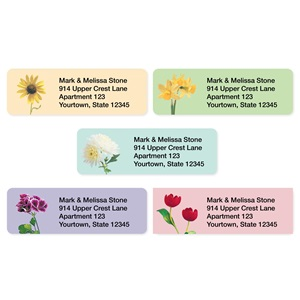 Garden Blossoms Sheeted Address Label Assortment