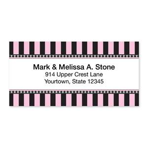 Parisian Stripe Sheeted Address Labels
