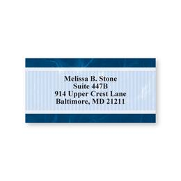 Navy Stripe Sheeted Address Labels