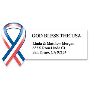 God Bless The Usa Diecut Sheeted Address Labels