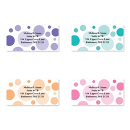 Graphic Dots Sheeted Address Label Assortment