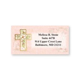 Flowers Of Faith Sheeted Address Labels