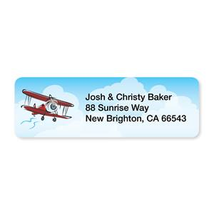 Airplane Sheeted Address Labels