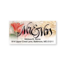 Mr And Mrs Sheeted Address Labels
