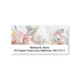 New Baby Girl Sheeted Address Labels
