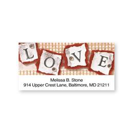 Stamped Love Sheeted Address Labels