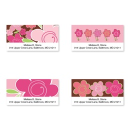 Shades Of Pink Sheeted Address Label Assortment