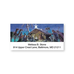 Nativity Sheeted Address Labels
