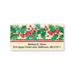 Holly Stripe Sheeted Address Labels