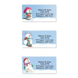 Snowman Delights Sheeted Address Label Assortment