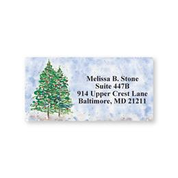 Winter Watercolor Sheeted Address Labels