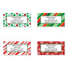 Gift Wrap Greetings Sheeted Address Label Assortment