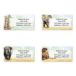 Trip To Africa Sheeted Address Label Assortment
