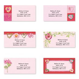 Hearts And Flowers Sheeted Address Label Assortment