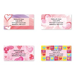 Romancing Hearts Sheeted Address Label Assortment