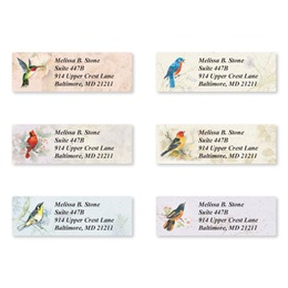 Backyard Birds Sheeted Address Label Assortment