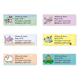 Doodle Zoo Sheeted Address Label Assortment
