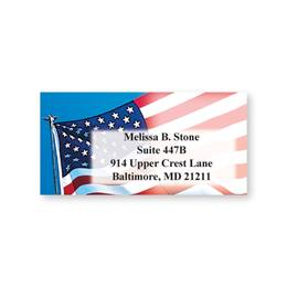 Flag Sheeted Personalized Name And Address Labels